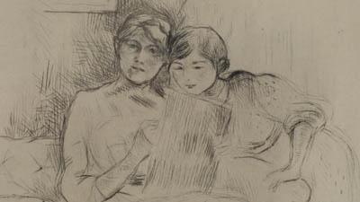 Impressions Morisot, un documentaire de Monique Quintart Produit par Halolalune ProductionBerthe Morisot - La leçon de dessin, coll. privée © D.R.