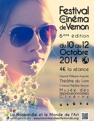 Affiche festival cinéma Vernon La Normandie et le Monde de l'Art 2014